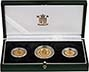2002 Whole Coin Set Sovereign - 3 Coins Gold Proof Presentation Box