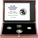 1996 Whole Coin Set Sovereign - 3 Coins Gold Proof Presentation Box