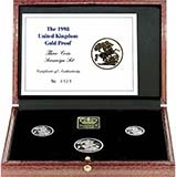 1998 Whole Coin Set Sovereign - 3 Coins Gold Proof Presentation Box