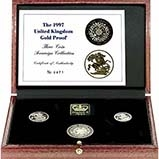 1997 Whole Coin Set Sovereign - 3 Coins Gold Proof Presentation Box