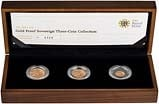 2011 Whole Coin Set Sovereign - 3 Coins Gold Proof - Premium Presentation Box