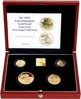 1995 4-Coin Gold Proof Sovereign Set Without Certificate 24476