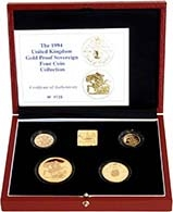 1994 4-Coin Gold Proof Sovereign Set Presentation Box