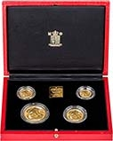 1990 Whole Coin Set Sovereign - Four (4) Coins Gold Proof Presentation Box