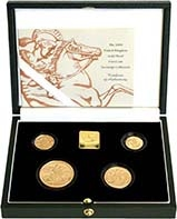 2000 Whole Coin Set Sovereign - Four (4) Coins Gold Proof Presentation Box