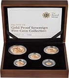 2010 5-Coin Gold Proof Sovereign Set 24696