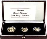 1983 Whole Coin Set Sovereign - 3 Coins Gold Proof 22795