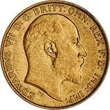 Gold Half Sovereign Edward VII Bullion 21638