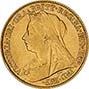 Gold Half Sovereign Victoria Old Head Bullion 23737