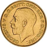 Gold Half Sovereign George V Bullion 21709