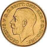 Gold Half Sovereign George V Bullion 21709