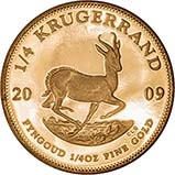 2009 0.25 oz Gold Coin Krugerrand Proof 21181