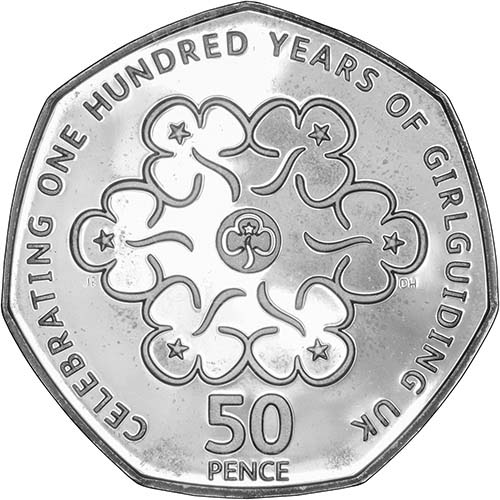 Buy A 2010 100 Years Of Girlguiding 50p Silver Proof Chard