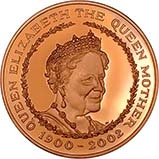 2002 UK Coin £5 / Crown Gold Proof Queen Mother Memorial 23815