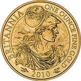 2010 1 oz Gold Coin Britannia Bullion 23823
