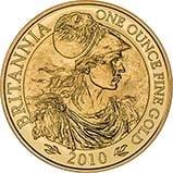 2010 1 oz Gold Coin Britannia Bullion 23823