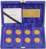 Gold Proof Beasts & Bridges £1 Pattern Set - 8 Coins 21956