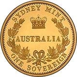 2005 Gold Australian Proof Sovereign 23132