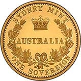 2005 Gold Australian Proof Sovereign 23132