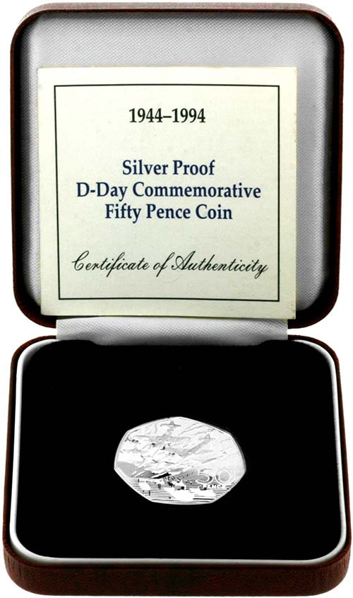 Buy A 1994 D Day 50p Silver Proof Chard