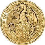 2017 1 oz Gold Coin Queen's Beasts  Red Dragon Bullion 22873