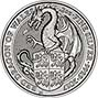 2017 2 oz Silver Coin Queen's Beasts Bullion Red Dragon 22819