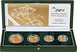 2004 4-Coin Gold Proof Sovereign Set Presentation Box