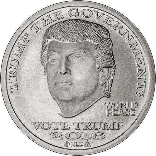 2016 Silver Trump 1 Oz Bu Round Chard