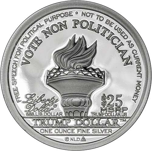 2016 Silver Trump 1 Oz Proof Round Chard