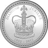 2012 1 Kg Silver Coin Proof Diamond Jubilee 20557