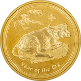 2009 1 oz Gold Coin Lunar Year of the Ox Perth Mint Bullion 23866