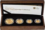 2008 4-Coin Gold Proof Sovereign Set Presentation Box