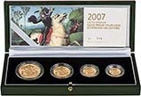 2007 Four Coin Gold Proof Sovereign Set Presentation Box