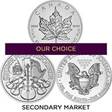 1 oz Silver Coin Our Choice Secondary Market 25112