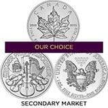 1 oz Silver Coin Our Choice Secondary Market 25112