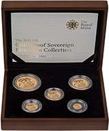2011 5-Coin Gold Proof Sovereign Set 23508