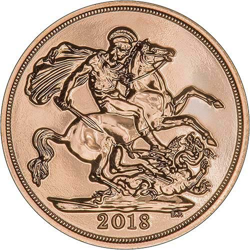 2018 Gold Sovereign Unc Coin Chards