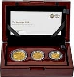 2018 Whole Coin Set Sovereign - 3 Coins Gold Proof - Premium Presentation Box