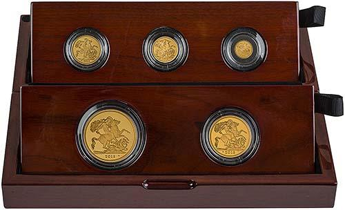 2018 5-Coin Gold Proof Sovereign Set 22395
