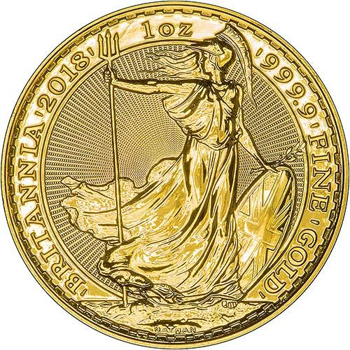 2018 1 oz Gold Coin Britannia Bullion 24901