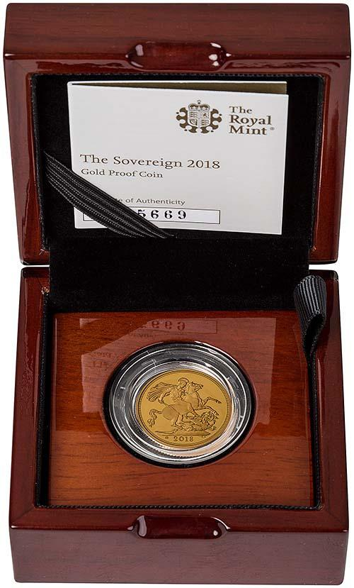 2018 Gold Proof Full Sovereign 24230