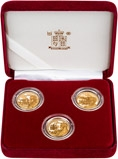 2002 Whole Coin Set Channel Islands Gold Proof 150th Anniversary of the Duke of Wellingtons Death - 3 Coins 23233