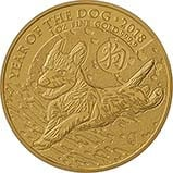 2018 1 oz Gold Coin Lunar Year of the Dog Royal Mint Bullion 24466
