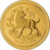 2018 1 oz Gold Coin Lunar Year of the Dog Perth Mint Bullion 24976