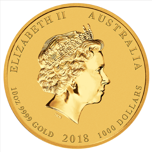 2018 10 oz Gold Coin Lunar Year of the Dog Perth Mint Bullion 20948