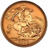2000 Gold Full Sovereign Elizabeth II Bullion Reverse