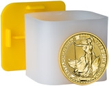 2019 1 oz Gold Coins in Tube Britannia Bullion  - 10 Coins 22637