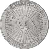 2018 1 oz Silver Coin Kangaroo Perth Mint Bullion 20778