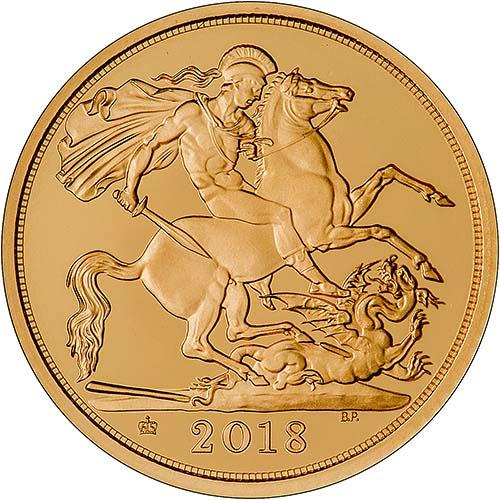 2018 Gold Proof Half Sovereign 24616