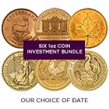 1 oz Gold Coin Bundle - 6 Coins 21029